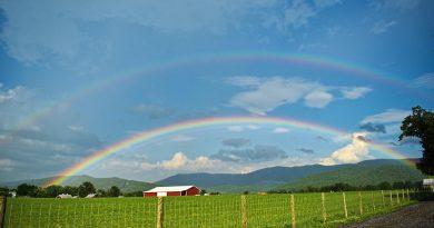 Arcoíris doble desde Virginia, Estados Unidos