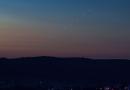 La secuencia de la salida de Venus en Sajonia, Alemania