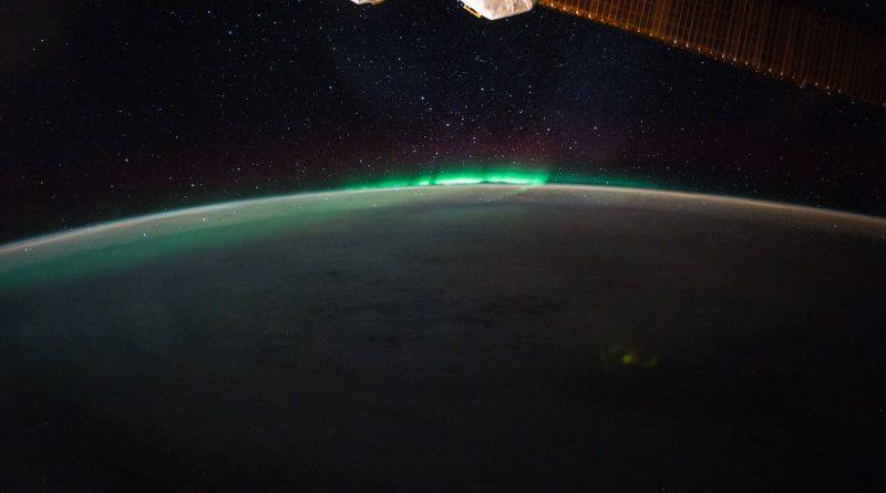 Auroras australes desde la Estación Espacial Internacional