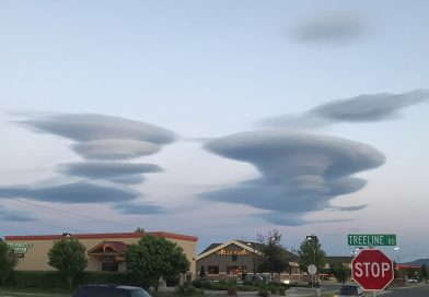 Nubes lenticulares desde Montana, Estados Unidos