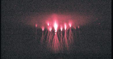 Espectros rojos captados en Nýdek, República Checa