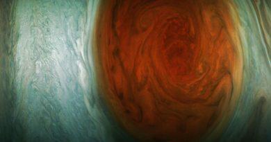 Nuevas imágenes de la Gran Mancha Roja captadas por la nave espacial Juno