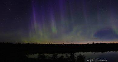 Auroras boreales desde Labrador, Canadá
