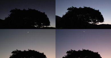 La Luna y Venus al amanecer en Zimbabue