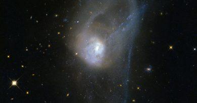 El lento baile entre dos galaxias en proceso de fusión