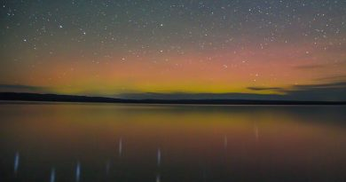 Auroras boreales desde Wyoming, Estados Unidos