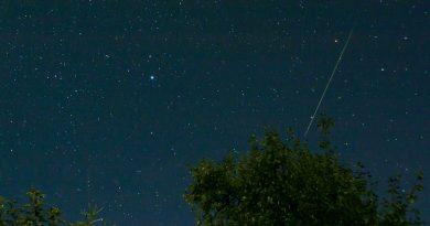 Fotografía de un meteoro desde Sajonia, Alemania
