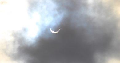 Foto del eclipse solar (fase parcial) desde Alabama, Estados Unidos