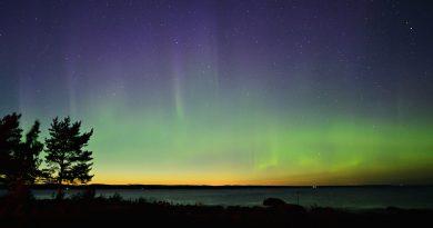 Auroras boreales desde Rönnskär, Suecia