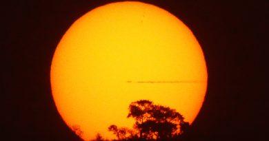 La puesta de Sol desde Mutare, Zimbabue
