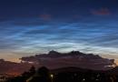 Nubes noctilucentes desde Bergen, Noruega