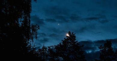 La conjunción de Venus y la Luna desde Dresden, Alemania