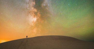 Imagen de la Vía Láctea desde la península de Jutlandia, Dinamarca