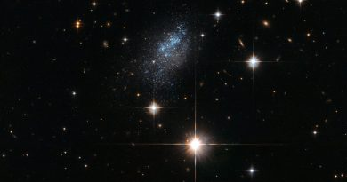 La estructura caótica de la galaxia ESO 376-16