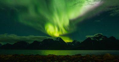 Auroras boreales desde Spåkenes, Noruega