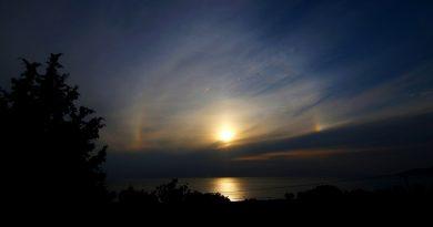 Halo solar desde Metimna, Grecia