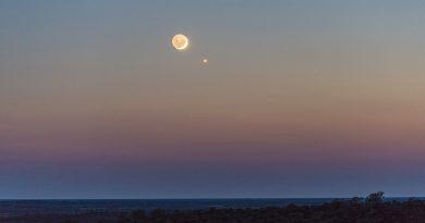 La Luna y Venus desde Australia Occidental