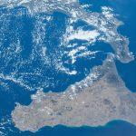 Imagen de Sicilia desde la Estación Espacial Internacional