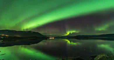 Auroras boreales desde Kiruna, Suecia