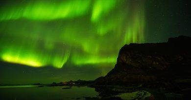 Auroras boreales desde Nordskot, Noruega