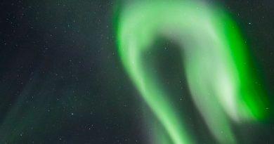 Auroras boreales desde Kvaløya, Noruega
