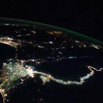 El río Nilo desde la Estación Espacial Internacional