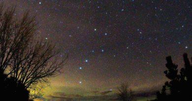 La constelación de la Osa Mayor desde Montana, Estados Unidos