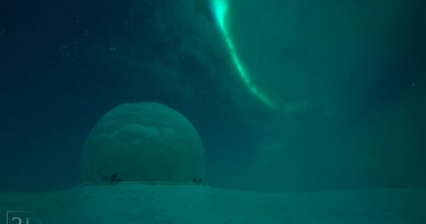 Auroras boreales desde Múrmansk, Rusia