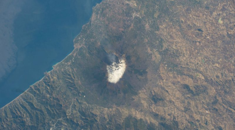 Imagen del Monte Etna desde la Estación Espacial Internacional