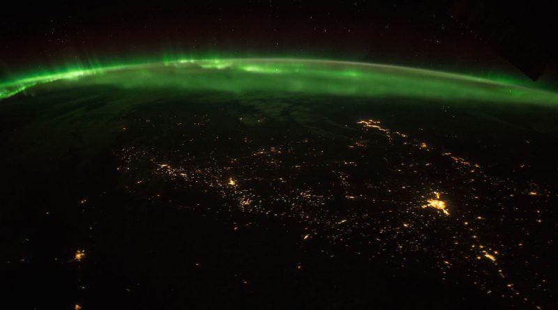 Auroras sobre Canadá desde la Estación Espacial Internacional