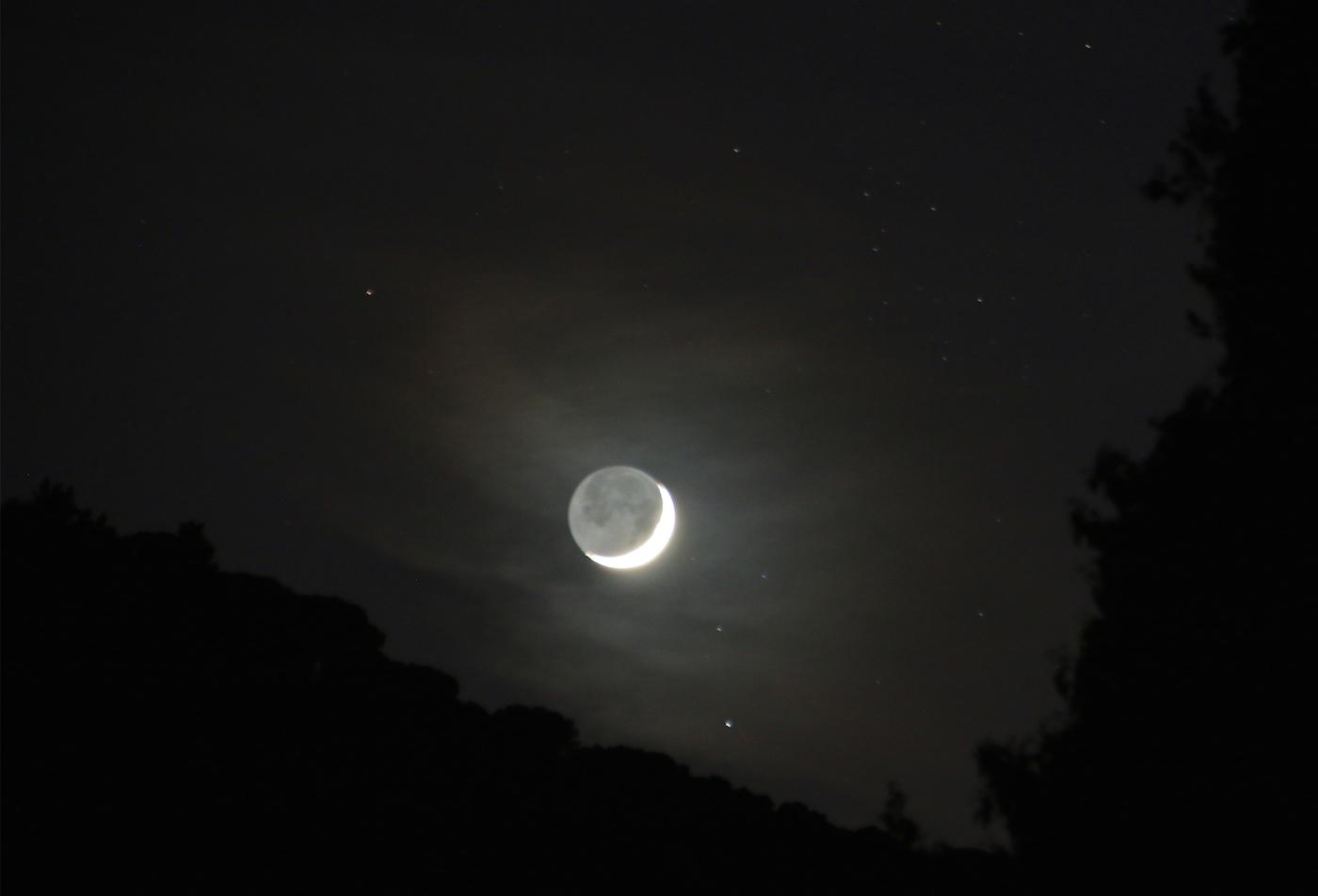 La luna creciente desde arenys de munt barcelona el for Proxima luna creciente