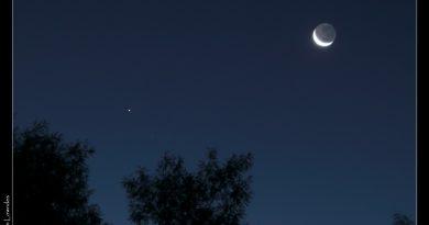 La Luna y Saturno desde Australia