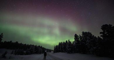 Auroras boreales desde Kaamanen, Finlandia