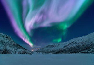 Auroras boreales desde Kattfjordvatnet, Noruega