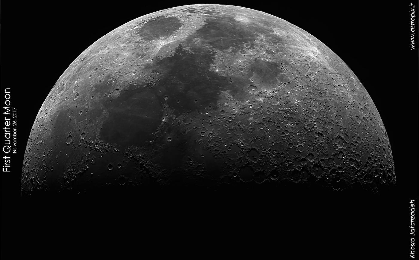La luna desde teher n ir n el universo hoy for Proxima luna creciente