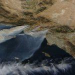 Los incendios en el sur de California desde el espacio (5-diciembre)
