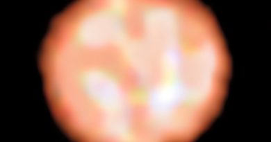 Burbujas gigantes en la superficie de una estrella gigante roja