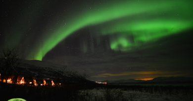 Fotografía de auroras boreales tomada en Suecia (11-diciembre)