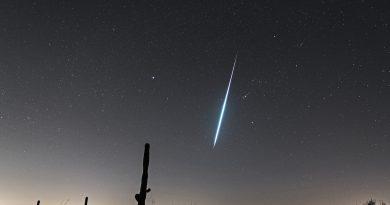 Imagen de una gemínida captada en Tucson, Arizona (EE. UU.)