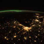 Auroras boreales desde la Estación Espacial Internacional