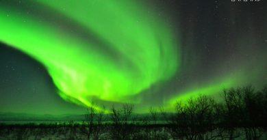Auroras boreales fotografiadas en Abisko, Suecia