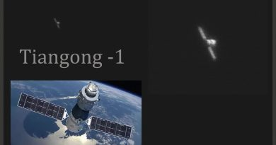 Imagen de la estación espacial Tiangong-1