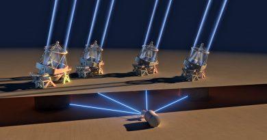 Cuatro telescopios pequeños que funcionan como un solo telescopio gigante