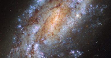 Una galaxia solitaria y explosiva en la constelación Reticulum