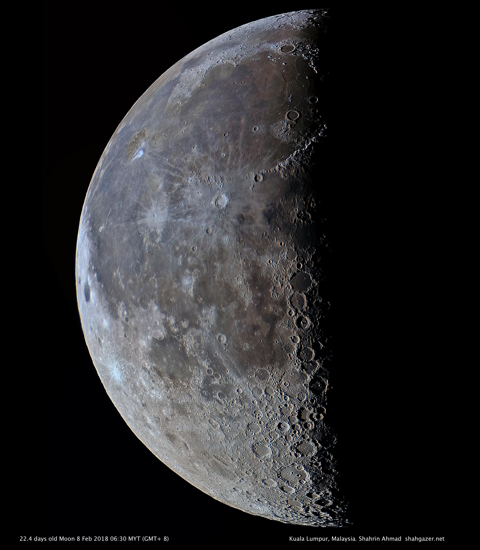 La Luna menguante fotografiada desde Malasia – El Universo Hoy