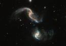 El encuentro cercano de dos galaxias en la constelación de Cetus