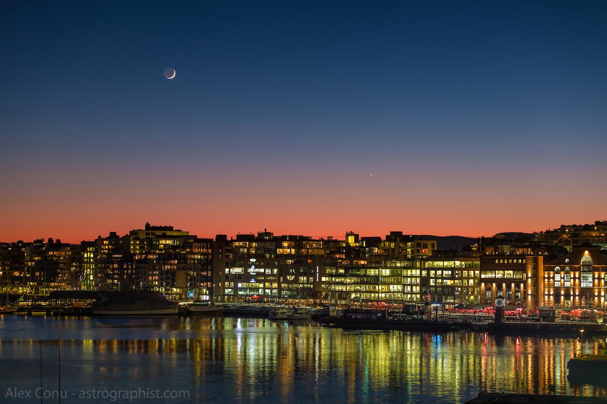 La luna creciente sobre oslo noruega el universo hoy for Proxima luna creciente