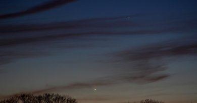 Foto de Venus y Mercurio tomada desde Long Island, Nueva York (Estados Unidos)