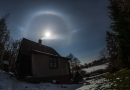 Halo lunar captado en Ústupky, República Checa