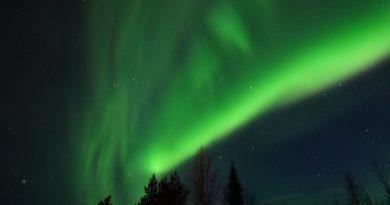 Auroras boreales fotografiadas en el norte de Finlandia (11-abril)